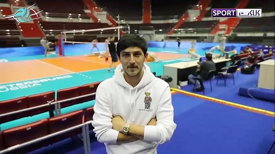 حضور سردار آزمون در تمرینات ملی پوشان والیبال