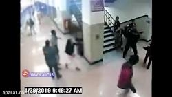 کتک زدن یک دانش آموز با ...