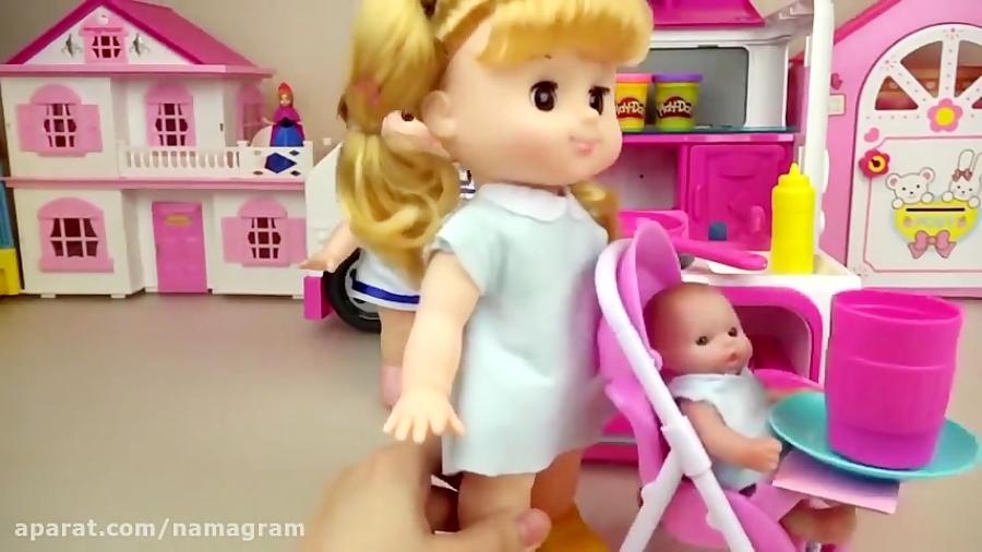 کلیپ دخترونه عروسک کوچولو و آشپزخانه باربی جدید