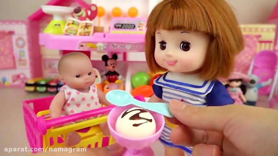 کلیپ دخترونه عروسک کوچولو و آشپزی اسپاگتی خوشمزه جدید