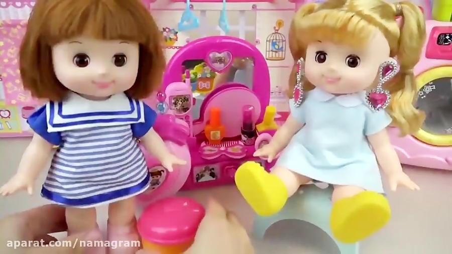 کلیپ دخترونه عروسک کوچولو و میز آرایش مخصوص مو جدید