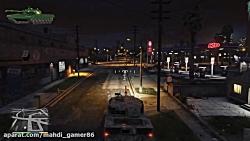 گیم پلی با تانک در GTA V (د...