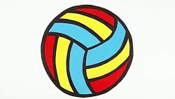 چگونه توپ والیبال بکشی...