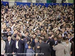 سخنرانی آیت الله مهدوی كنی قدس سره در دیدر غدیر 1384 با رهبر معظم انقلاب اسلامی