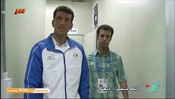 پشت صحنه حضور ورزشکاران ایران استودیو شبکه ۳