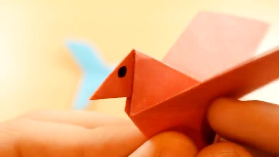 اوریگامی پرنده - آموزش ساخت پرنده کاغذی - کاردستی