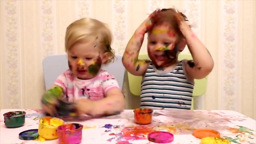 بچگی دیانا و روما | نقاشی کشیدن دیانا و روما