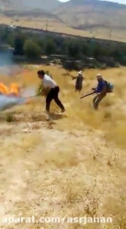 آتش سوزی گسترده در شهرستان بهمئی درختان باغ 5 هکتاری را به خاکستر تبدیل کرد