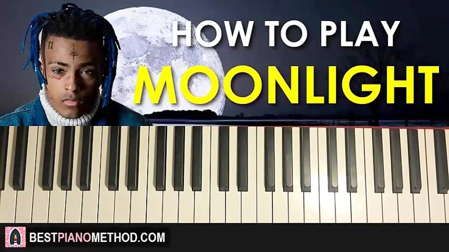 HOW TO PLAY - XXXTENTACION - Moonlight (Piano Tutorial Lesson)