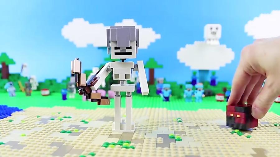لگو اسباب بازی LEGO MINECRAFT 21150 Skeleton with Magma Cube
