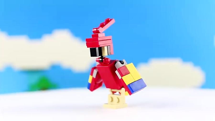لگو اسباب بازی LEGO MINECRAFT 21148 Steve with Parrot