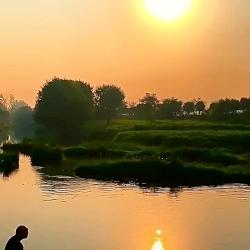 غروب آفتاب در طبیعت
