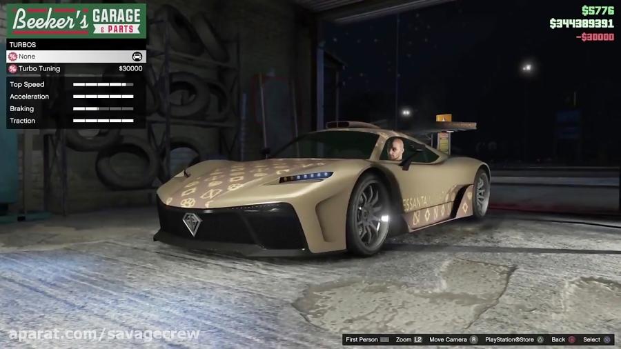 سریع ترین و گران ترین ماشین در gta online  فول اپگرید ماشین krieger