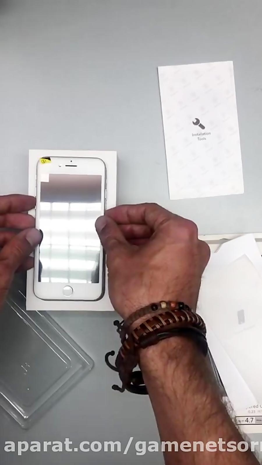 آموزش نصب گلس محافظ نمایشگر برای همه ی مدل های آیفون