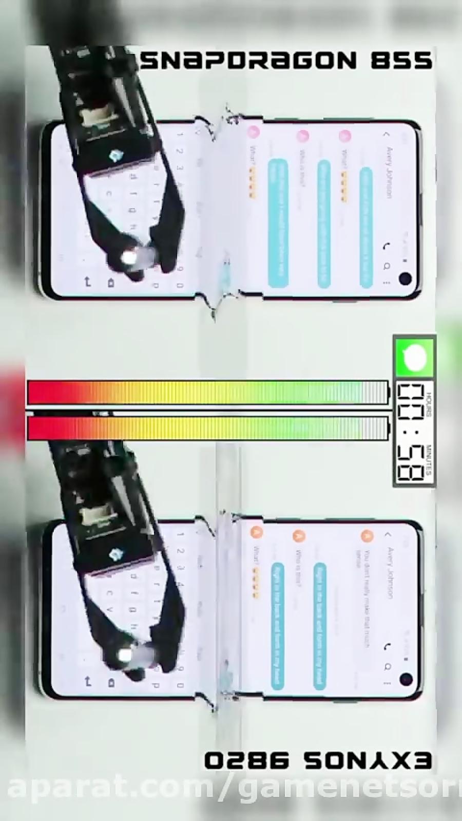 مقایسه دوام باتری نسخه های اسنپدراگون و اگزینوس گلکسی اس ۱۰