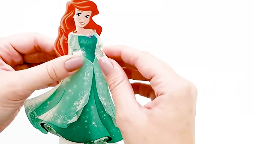 CUTEST ARIEL PAPER DOLL Cartoons For Kids