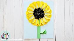 آموزش کاردستی ساده ساخت گل
