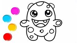 آموزش نقاشی و رنگ آمیزی غول کوچولو