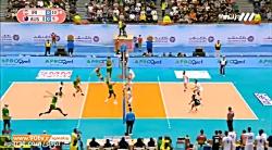 فینال والیبال قهرمانی آسیا: ایران 3-0 استرالیا