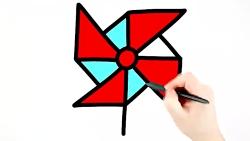 آموزش نقاشی و رنگ آمیزی فرفره