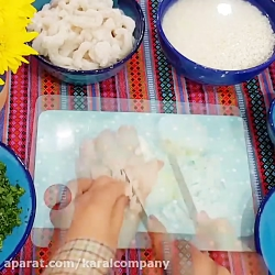 طرز تهیه میگو پلو بوشهری در ظروف کارال