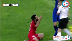 درگیری بازیکنان پرسپولیس و استقلال - شهرآورد 90