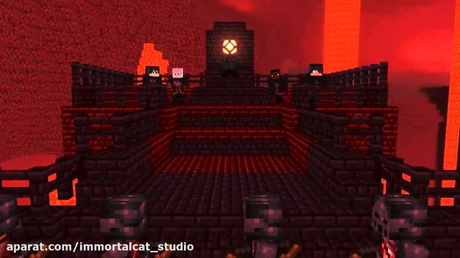 Minecraft Nether Knight Raid Killing Strangers (minecraft animtion)