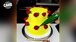 ویدیوی خوشمزه - کیک آرایی - آموزش تزیین کیک زیبا