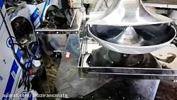 آب گوجه گیر صنعتی دو موتوره تک قیف