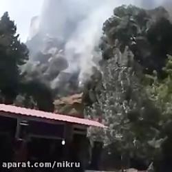 حریم قلعه فلک الاافلاک خرم آباد دوباره در آتش سوخت...