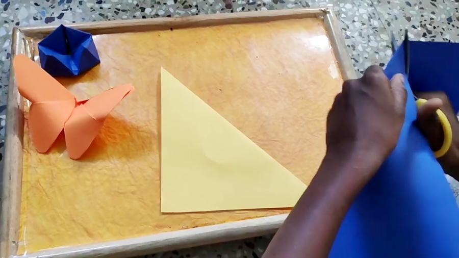 اوریگامی دایره - آموزش ساخت دایره کاغذی - کاردستی