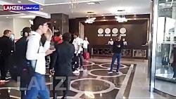 خروج بازیکنان پرسپولیس از هتل محل اقامت به سمت ورزشگاه بنیان دیزل