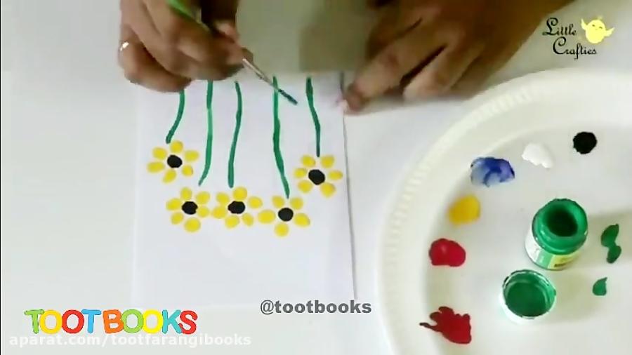تقویت هوش و خلاقیت کودکان کاردستی ،درست کردن کارت پستال از توت فرنگی