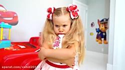 بازی دیانا و روما با عروسک و اسباب بازی