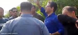 صحبتهای امروز ابراهیم عباسی  در جمع کارگران معترض روبروی دفتر مدیریت