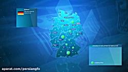 پیش نمایش ویدئویی پروژه افترافکت نقشه کشورهای جهان همراه با جزئیات