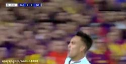 خلاصه بازی بارسلونا2-اینتر1