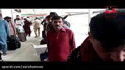 کلیپ/ورود زائرین پاکستانی اربعین از مرز میرجاوه