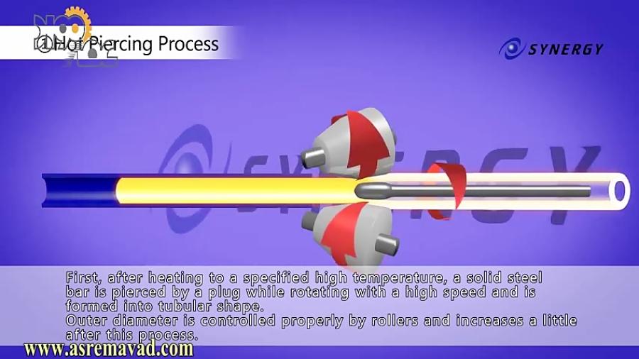 تولید لوله بدون درز به روش نورد پیلگر سرد
