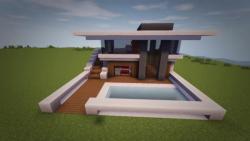 آموزش ساخت خانه مدرن در ماینکرافت