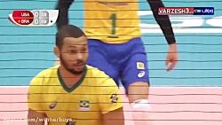 خلاصه والیبال برزیل 3-0آ...