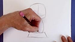 آموزش نقاشی کارتونی: چطور  توله سگ پاپی کارتونی بکشیم