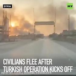 فرار مردم شمال سوریه از...