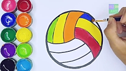 نقاشی توپ والیبال
