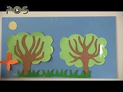 کاردستی کودک | درخت های ...