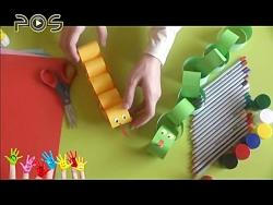 کاردستی کودک | مار کاغذ...