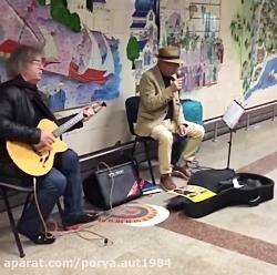 موسیقی خیابانی در مترو...