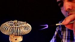 موسیقی و جادو با جرقه |سیم پیچ تسلا|