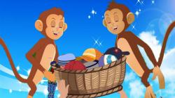 کارتون قصه کلاه فروش و میمون ها - قصه های کودکانه - داستان های فارسی جدید