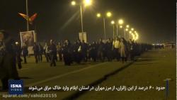 پیاده روی شبانه روزی زائران کربلا در عراق